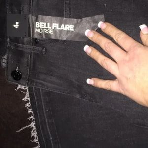 Bella flare mid rise express jeans